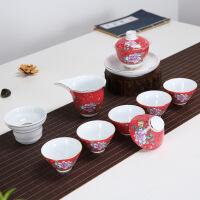 茶具套装陶瓷纯手工陶瓷茶具手拉复古功夫茶具套装