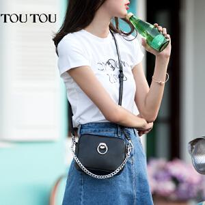toutou2017夏天新款个性韩版女包百搭圆环链条包单肩斜挎小包包潮