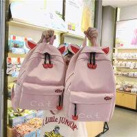 ins书包女高中韩版中学生初中生少女可爱大容量大学生背包双肩包