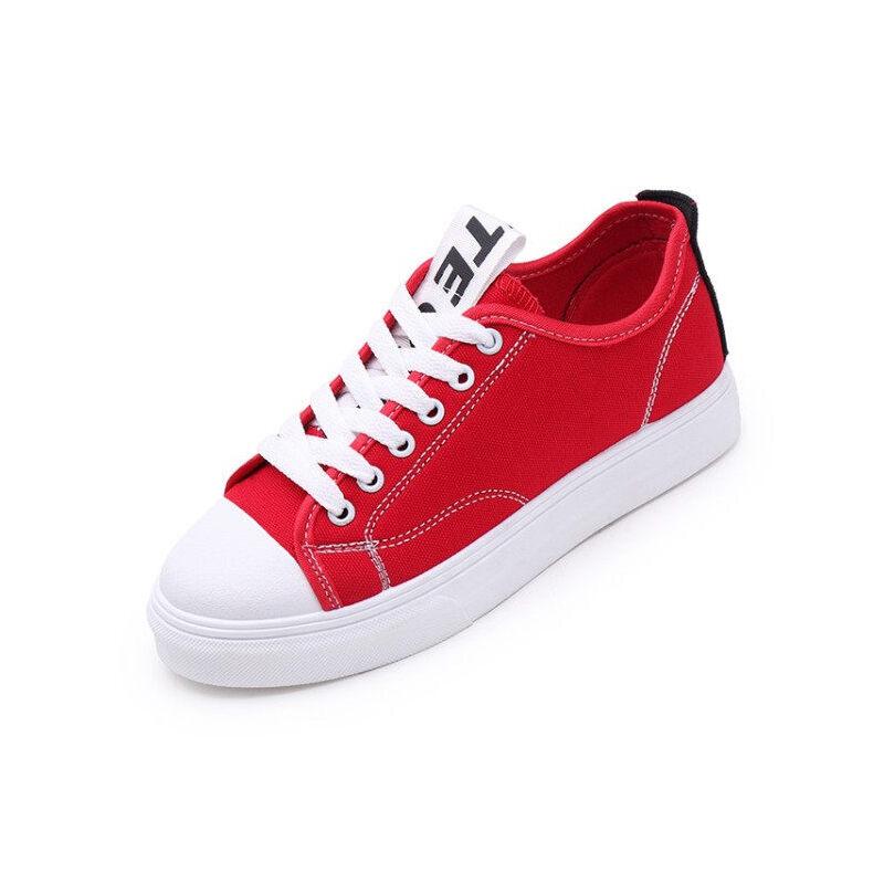 WARORWAR法国YM42-3000新品四季休闲平底鞋舒适女士帆布鞋