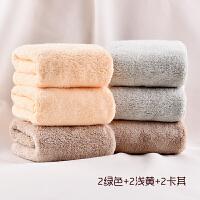 6条装吸水珊瑚绒方巾 搽脸巾帕清洁抹布小方巾洗脸擦手毛巾 30x30cm
