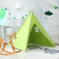 √印第安儿童帐篷公主玩具屋小孩游戏房幼儿园阅读区落地帐篷读书角