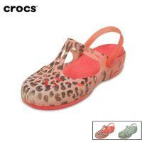 Crocs卡骆驰正品夏日豹纹玛丽珍沙滩洞洞凉鞋卡洛驰女鞋|202571