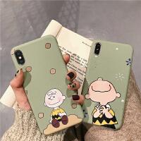 抹茶绿可爱卡通8plus苹果x手机壳XS Max/XR/iPhoneX/7p/6女款iphone6s X/Xs tpu