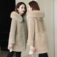 秋冬新款仿皮草羊羔毛绒外套女士中长款上衣韩版大码显瘦加厚大衣