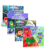 【顺丰速运】英文原版 PJ Masks Super Team 蒙面睡衣侠超人队4册套装 迪斯尼新作 3-6岁低幼儿童英