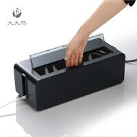 日本进口集线盒电线收纳盒拖线板插座理线盒 电源保护盒
