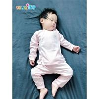 婴儿纯棉套装秋衣秋裤男宝宝女内衣0春秋1幼儿2岁3长袖儿童睡衣服