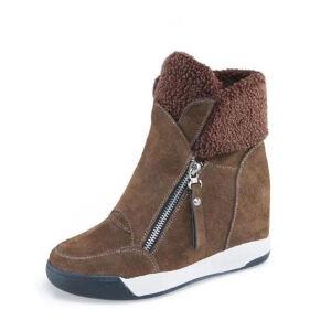WARORWAR新品YM154-927秋冬韩版内增高坡跟女士休闲短靴