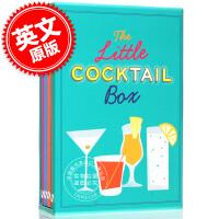 现货 鸡尾酒介绍盒装 英文原版 The Little Cocktail Box 琴酒、龙舌兰、朗姆、伏特加贴士 鸡尾酒
