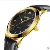 手表皮带石英表男表超薄防水商务休闲男士手表日历腕表