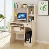简欧简易办公桌迷你电脑小型桌子简约单人书桌带书柜一体台式桌省