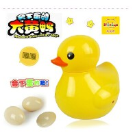 儿童大黄鸭益智玩具 电动万向轮带音乐 会下蛋的鸭子 生蛋鸭礼物