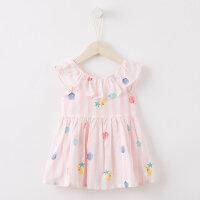 【2件1.5折价:29.9】美特斯邦威旗下Moomoo童装女婴童多彩条纹连衣裙