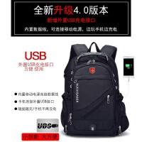 瑞士军刀大容量双肩包 瑞士背包商务旅行包电脑包男士高中学生书包