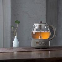 小熊(Bear)煮茶器养生壶玻璃加厚黑茶煮茶壶多功能1L电热水壶 暖灰色 ZCQ-A10Q1