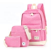 大容量女包帆布背包中小学生书包旅游休闲双肩背包儿童背包7-12岁