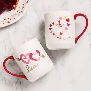爱屋格林美式马克杯陶瓷咖啡杯情侣对杯礼盒创意可爱办公室水杯