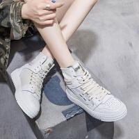 ZHR2018秋季新款嘻哈高帮鞋平底街舞鞋子潮板鞋韩版百搭学生女鞋
