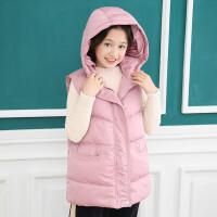 女童马甲秋冬季2018新款韩版外穿洋气女大童12-15岁马甲外套黑色 如图