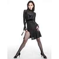 拉丁舞服装女连衣裙舞跳舞练功训练服