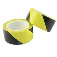 环美警示胶带 4.8cm×33y黑黄地板胶带 斑马线胶带 PVC隔离带 黑黄警示胶带