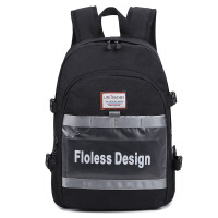 背包女双肩包休闲电脑个性旅行包学生书包校园风简约时尚 黑色