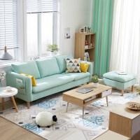 布艺沙发小户型三人经济型客厅出租房转角组合北欧简约整装可拆洗o1r
