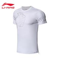 李宁短袖T恤男士新款国家队赞助羽毛球系列运动衣上衣运动服AHSN705