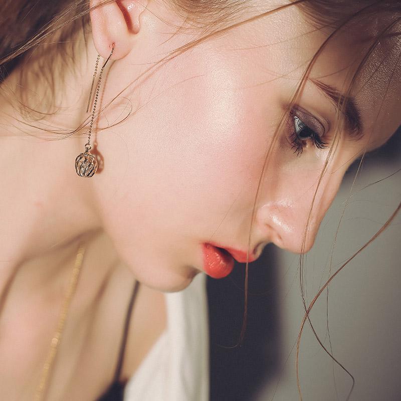 新年礼物Mbox耳环 女日韩国长款夸张个性耳坠 气质百搭耳钉耳饰如影随形韩版潮流 小资原创 送精美包装