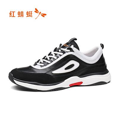 【红蜻蜓618开门红、领劵减100】红蜻蜓2019新款男鞋潮鞋运动跑步鞋男夏季休闲鞋男士皮鞋