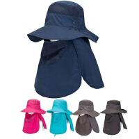 男士帽子夏季户外登山帽户外出游遮阳大檐帽钓鱼帽