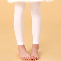 女童踩脚裤袜 儿童九分裤袜 宝宝舞蹈袜夏季薄款打底裤白色健美裤