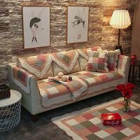 水洗全棉沙发垫四季通用简约现代客厅防滑纯棉组合布艺套罩巾坐垫