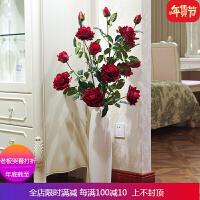 5头高品质仿真玫瑰花落地假花客厅摆放花卉绢花仿真花束装饰花 自店营年货