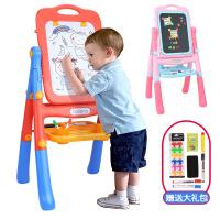 贝恩施儿童画板画架涂鸦写字板宝宝彩色双面磁性支架式家用小黑板
