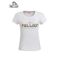 【618返场-狂欢继续】法国PELLIOT户外短袖T恤 男女夏季圆领透气运动快干衣情侣跑步T恤