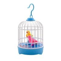 迷你儿童玩具电动小鸟仿真声控感应鸟笼会叫会说话的家居摆饰玩具