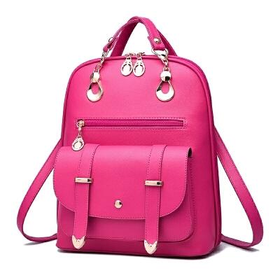 2018新款女包韩版双肩包时尚PU皮两用背包女士旅行包包休闲书包潮