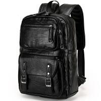 2018新款男士真皮双肩背包男学院风双背包男女书包电脑包旅行包包