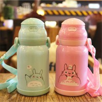 卡通可爱儿童吸管保温杯304不锈钢婴儿真空保温水瓶 宝宝便携水杯