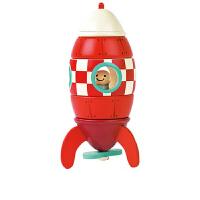 20180518074622626儿童拼搭玩具磁力拼接积木航天梦飞机火箭模型木质玩具