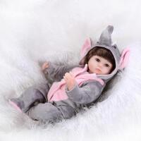 萌萌哒动物娃娃 仿真可爱宝宝玩具 仿真婴儿 过家家玩具 如图全套娃娃 42厘米