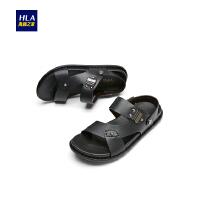 HLA/海澜之家舒适透气凉鞋2018夏季新品男士凉鞋