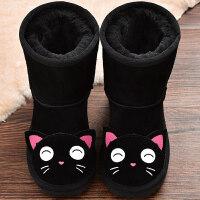 儿童雪地靴女中筒靴子冬季新款童鞋男童动物童靴女童棉靴宝宝鞋子