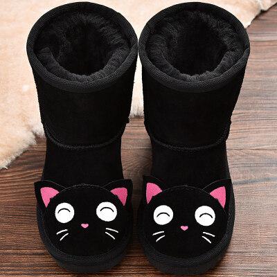 儿童雪地靴女中筒靴子冬季新款童鞋男童动物童靴女童棉靴宝宝鞋子   全店商品限时3件7折,一件9折,2件8折。全店商品限时3件7折,一件9折,2件8