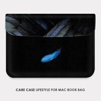 新款苹果笔记本电脑内胆包2mac book 13.3air pro15.4寸蓝羽毛 11寸Air 电脑包 其它尺寸