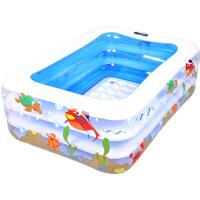 20180823083509629婴儿游泳池 婴幼儿童洗澡游泳家用充气加厚保温游泳池
