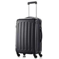行李箱男拉杆箱旅行箱包密码箱皮箱子万向轮20寸22寸24寸26寸28寸 尊贵黑 20寸