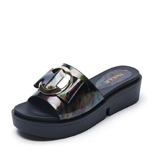 Belle/百丽夏季专柜同款人造革女拖鞋R5J2DBT7